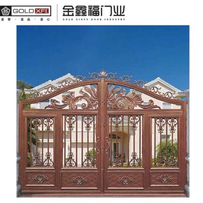 广州金鑫福别墅铝艺大门 铝合金平开入户豪华庭院铝艺 厂家直销