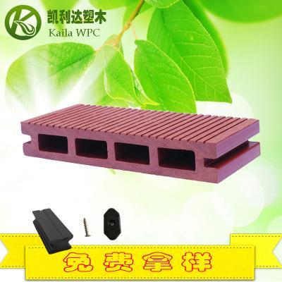 塑木空心地板kld-140H25新型装饰pe木塑材料 生态木地板厂家直销
