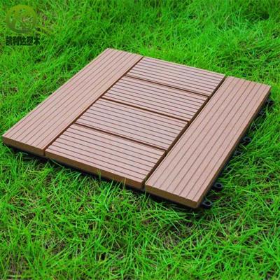 环保庭院用塑木小地板kld-diy310w310A款 厂家直销户外木塑地板