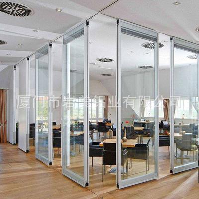 厂家专业批发 办公室活动隔断墙 半自动餐厅调光钢化玻璃活动隔断