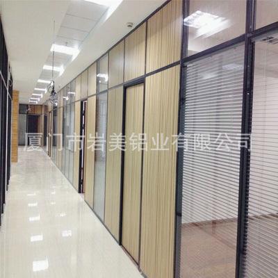大量销售 双玻百叶玻璃隔断 内置百叶玻璃隔断 办公屏风成品隔断