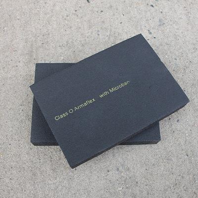 b1级阿乐斯福乐斯橡塑板 防水橡塑海绵保温板 黑色吸音自粘橡塑板