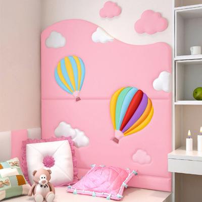 宝宝卧室床头板卡通软包儿童房墙贴墙围自粘榻榻米背景墙靠背防撞