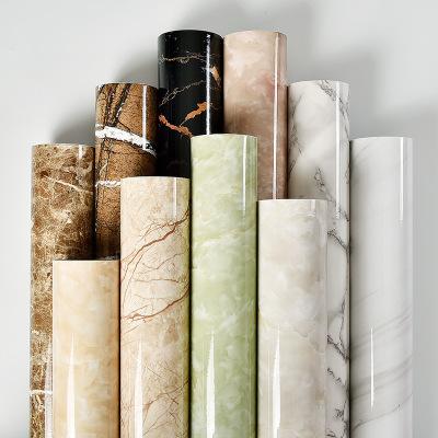 加厚防水pvc仿大理石纹贴纸壁纸自粘墙纸窗台衣橱柜子桌家具翻新