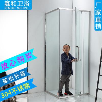 大量现货简易淋浴房L形淋浴房 公寓家装装修淋浴房 尺寸定制浴房