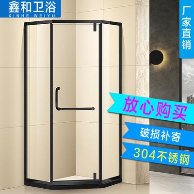 佛山酒店家装工程卫生间淋浴隔断双活动吊趟移门淋浴房厂家直销