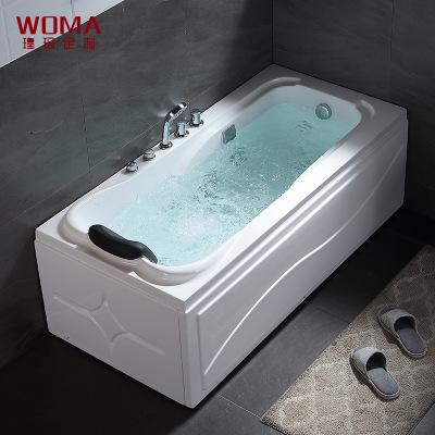 WOMA瑝玛卫浴厂家直销家用酒店工程成人亚克力独立式浴缸按摩浴缸