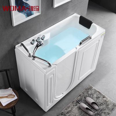 瑝玛卫浴老人无障碍侧开门步入式浴缸残疾人坐泡式亚克力按摩浴缸
