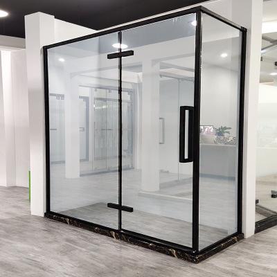 淋浴房定制浴室洗澡间单开门干湿分离石卫生间半隔断玻璃门L字形