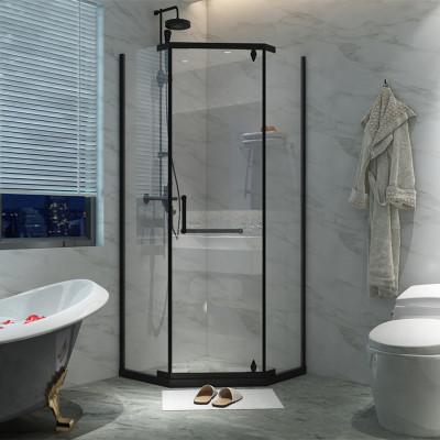 钻石型淋浴房农村洗澡房整体浴室家用干湿分离屏卫生间隔断玻璃门