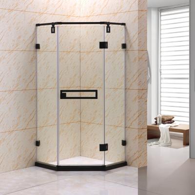 钻石型整体淋浴房黑色家用干湿分离卫生间厕所淋浴隔断门玻璃浴室