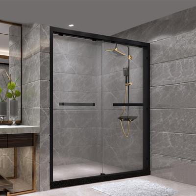 网红推拉门淋浴房一字形隔断整体浴室定制防爆钢化玻璃家用洗澡间