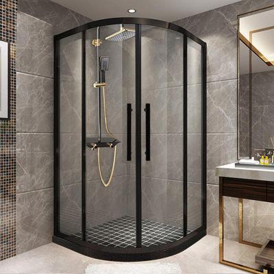 网红整体弧扇形淋浴房定制隔断干湿分离防爆钢化玻璃推门家用浴室