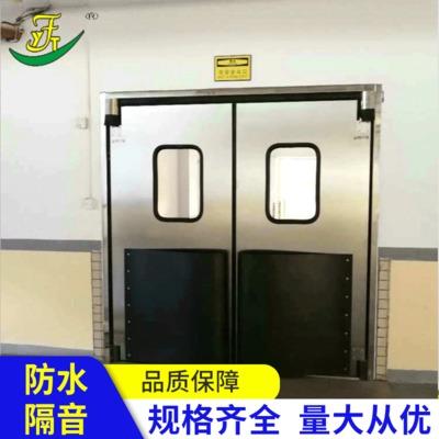 食品卫生传递门消毒专用物料传递门不锈钢自由门防撞门雅菲特包邮
