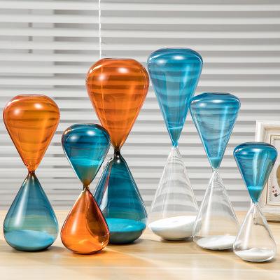 厂家直销定做沙漏计时器 彩色玻璃10/15/30/60分钟时间沙漏礼品