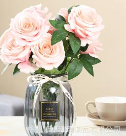 创意玻璃花瓶透明彩色水培植物绿萝玻璃花瓶客厅装饰插花瓶摆件