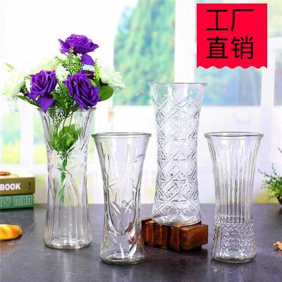 批发高30厘米特大号水晶瓶透明玻璃花瓶摆件水培富贵竹百合花器