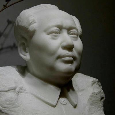 石雕汉白玉毛主席胸像工艺品摆件大理石雕像伟人名人校园广场石像