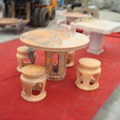 厂家直销石雕镂空石桌仿古石雕圆桌摆件 户外石桌石凳庭院石桌椅