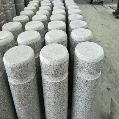 厂家供应天然花岗挡车石 挡车柱挡车球 停车场安全路障挡车设施