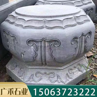 来图定做石雕仿古柱墩 寺庙景点柱子柱基石 大殿柱子座柱础