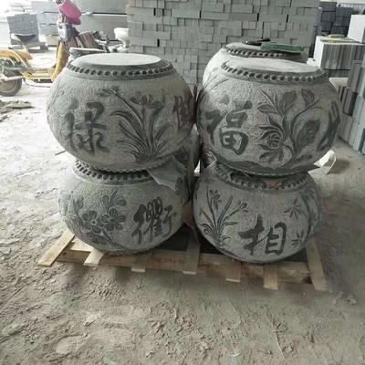 供应空心圆柱柱基石 仿古装饰柱脚石雕刻 柱墩石墩子定制批发