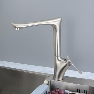 SUS304不锈钢水龙头电镀冷热厨房龙头菜盆厨用龙头360°旋转龙头