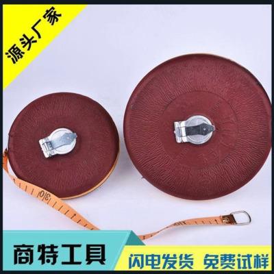 厂家批发 100米软卷尺高精度胶木布尺工程测量50米布尺圆盘尺